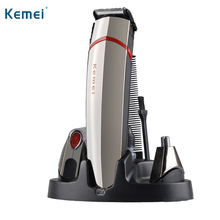 Kemei 3 in 1 Hair Clipper Trimmer Multifunction Electric Hair Razor EU Plug Hair Epilator Rechargeable Nose Ear Trimmer KM-530A