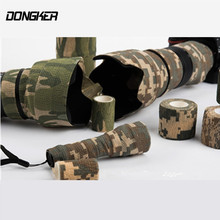 Airsoft Army Elastic Stealth Tape Military Waterproof Camo Tapes For Camera Paintball Shooting Hunting Gun Stretch Bandage Tool(China)