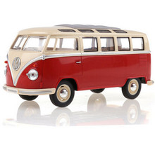 KINGSMART 1962 Volkswagen 1:24 Scale Diecast Bus Toys Onibus, Door Openable Model Car Toy For Collection / Gift