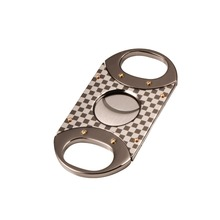 Volenx Cigars Cutter High Quality Cigar Guillotine Double Blade Cutter Checkered Style Stainless Steel Smoke Scissor