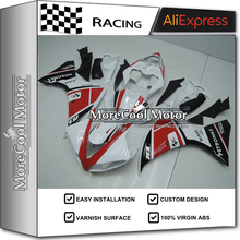 MOTO-GP Gloss White Motorcycle YZF R1 09-11 YZF-R1 2009-2011 Fairing Kit For Yamaha Fairings Parts With Red Stickers