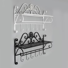 Single Prateleira Wall Shelf Bathroom Storage Rack Wrought Iron Wall Towel Rack Shelf Toilet Shelving Storage Rack