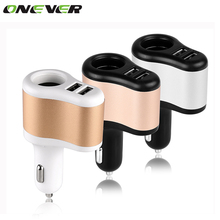 Universal Auto 3.1A Dual USB Car Charger For iPad iPhone Samsung One Way 12V-24V Car Cigarette Lighter Socket Adapter Charger