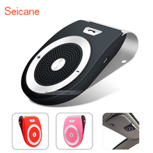 Seicane Wireless Built-in Speaker Microphone Sun Visor Bluetooth Handsfree Kit Support Two Phone Connection DSP Noise Reduction(China)