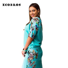 Buy ECOBROS Big size 6XL 2017 Fat MM Woman Summer Dress half sleeve bodycon printing knee dresses plus size women clothing 6xl for $14.39 in AliExpress store