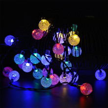 Kmashi Solar Powered Starry Fairy Light Solar Outdoor String Lights 30 LED Waterproof Ball Christmas Lamps For Garden Yard Home(China)