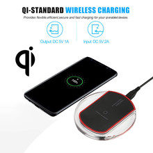 NEW Big promotion Portable Qi Wireless Charger Power Charging Pad For iPhone X/8 Plus for Samsung Note 8 S8 oneplus wholesale(China)