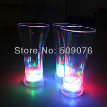 Free shipping 10pcs/lot 550ML/19OZ 18*8.5*6cm 3mode blinking cola cups led beer mug led cup for party supplies