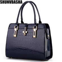 Genuine leather Women handbags  new light leather bag female crocodile high-grade shoulder bags of western style bag