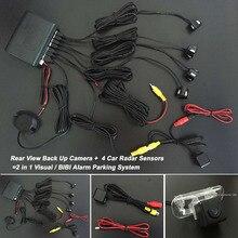 Датчики парковки + Камера Заднего вида = 2 в 1 Visual БИБИ сигнализация Система Парковки Для Mercedes Benz MB B-класс W245 2005 ~ 2011