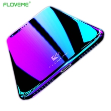 FLOVEME Blue Ray Gradient Case For iPhone 7 7 Plus Colorful Art For iPhone6 6 Plus Cases Gold Plating Hard PC Crystal Silm Shell