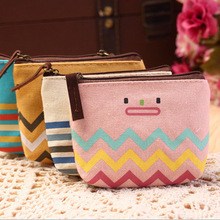 Factory direct sales Korean stationery cute smiley pattern zero purse key bag package bag mobile phone bag(China)
