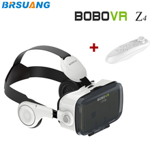 100pcs/lot New BOBO VR Z4 4.0-6.0 inch Virtual Reality 3D Movies Games Glasses+Bluetooth Remote Control for Google HTC LG etc.(China)
