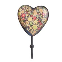Heart Shape Retro Coat Hat Robe Towel Hook Hanger Door Wall Mounted Hook for Clothes Bags