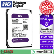 Western Digital WD Purple 8TB hdd NVR system sata 3.5 disco duro interno internal hard disk hard drive disque dur desktop server(China)