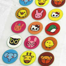 15Pcs Animal Badge Offset Press Iron-on Patches for Clothing Offset PET Transfer DIY Scrapbooking Materails Patches 2.5x2.5cm(China)
