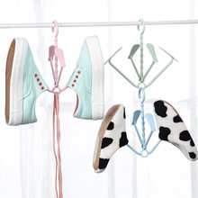 1PC Creative Plastic Clothes Hangers Shoes Rack Windproof Hook Space Saving 23*22cm(China)