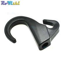 8mm Hole Plastic Camping Outdoor EDC Tool Snap Hook Backpack Strap Buckle For Bungee Paracord Black