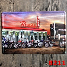 NEW 2016 Motorcycle Car Tin Signs Vintage House Cafe Restaurant Poster Metal Craft Art Painting 20*30 CM Wall Pictures