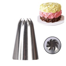 2 styles Icing Nozzle Decorating Tip Sugarcraft Cake Decorating Tools Baking Tools Bakeware,stainless steel russian tips Nozzle