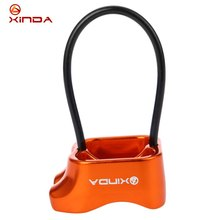 Xinda ATC Belay Rappel Device Outdoor Rock Climbing Carabiners Abseiling Downhill Safety Ring Belay Device Climbing Equipment(China)