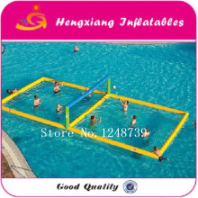 juegos inflables Inflatable Water Sports Games Inflatable Volleyball Field For Adult Inflatable Beach Volleyball Court