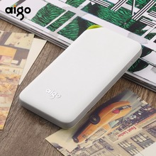 Aigo High Capacity 10000mAh 5V/2A Portable Power Bank Charger Backup External Battery Pack For Smartphone Tablet PC Rechargeable(China)