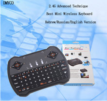 DMYCO 2.4G Mini Wireless R6 Gaming Keyboards Hebrew/Russian/English Version Best for PC Notebook Android TV Box HTPC