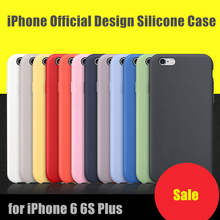 For iPhone 6 6S Plus Fashion High Quality Silicone Case Elegant Offical Design Ultra-Slim Lightweight Protective Back Cover