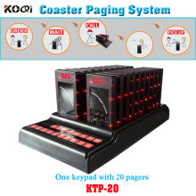 Coaster Paging System 1 keypad 20 Guest Coaster Pager With Screen Display Call Number Waiter Call Customer Personal Pager