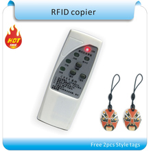 The lowest  price 2016 upgrade  ver 4 frequency  RFID Copier/  RFID  reader & writer+ 2pcs chinese style rewritablekeyfob