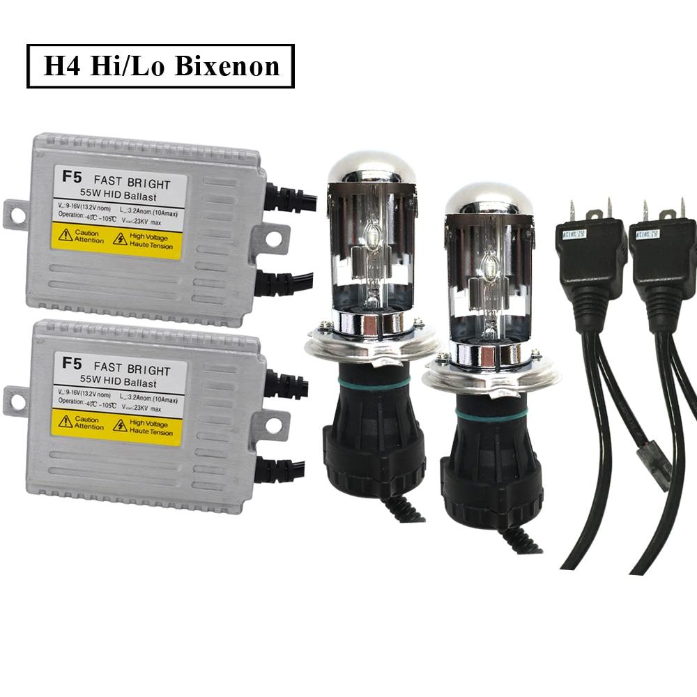SKYJOYCE F5 55W Fast Bright Xenon H7 HID KIT D2H H4 Bixenon 5500K White H1 H3 H11 9012 9005 9006 Car HID Headlight Ballast Kit (2)