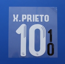 2016 2017 La Liga Real Sociedad Home X.PRIETO custom football number font print ,stamping Soccer patch badge