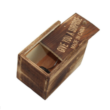 1Pc New Product Practical Jokes Durable Trick Prank Toys Lifelike Animal Hidden in Wooden Box Case Surprise Shock(China)