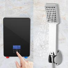 6500W Original Shower Tankless Instant Electric Hot Water Heater LED Screen temperature Kitchen Bathroom Water Shower System(China)