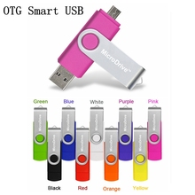 Real quality 2 in 1 Smart OTG Flash Drive Pen 4/8/16/32/64 gb USB memory sticks for smart android phone tablet
