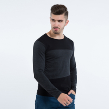 Liseaven Mens Casual T-Shirts Tops Tee Crew Neck Long Sleeve Slim Fit Men's T Shirt for Men Size M L XL 2XL 3XL 4XL 5XL(China)