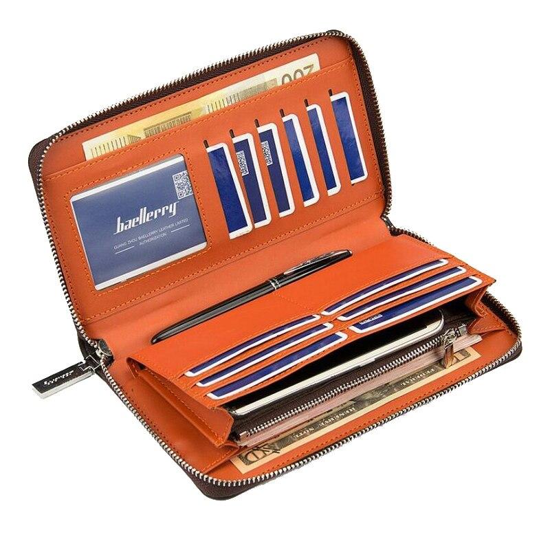 Brand Top PU Leather High Quality Men Long Wallet Coin Purse Vintage Designer Multifunction men clutch bag Male Carteira Wallets<br><br>Aliexpress
