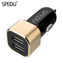 Spedu Car Charger 2 Ports Dual USB output 2.4A Car-Charger Mobile Phone Travel Adapter Cigar Lighter DC 12-24V Usb Car Charger(China)