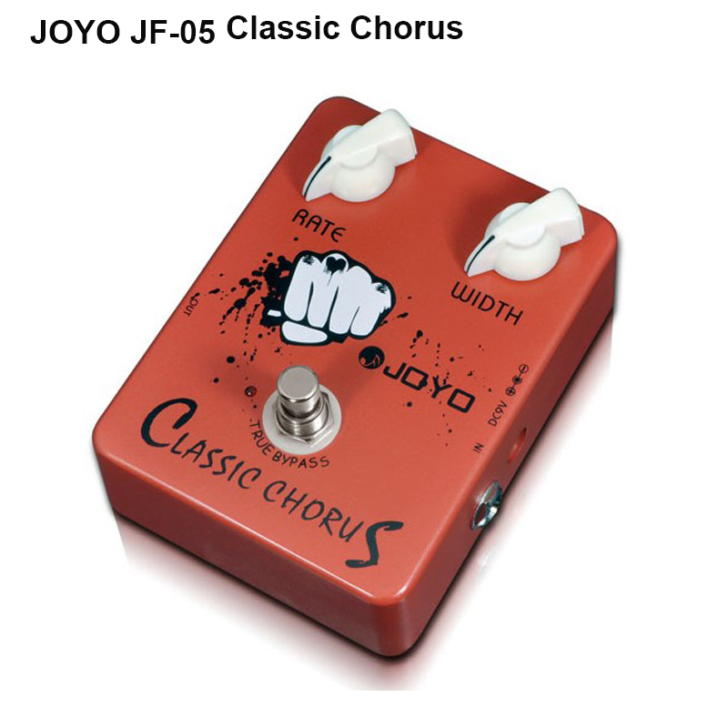 JOYO JF-05 True Bypass Design Classic Chorus Electric Guitar Effect Pedal Full Bodied 12-string Sounds Aluminum Alloy Material<br>