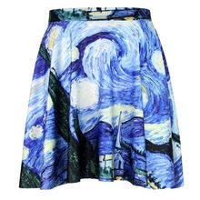 Olso knitting harajuku digital printing Oil Painting cool pattern wholesale and retail hot sale lowest price sexy female skirts