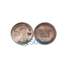 100pcs/lot Wholesale Manhattan New York 2016 Trump coin Make America Great Again antiuqe red bronzed plated newest metal craft(China)