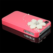 1PC Pearl Daisy Candy Hard Bling Back Case For Sprint iPhone 4 4G 4S AT&T HOT Pink(China)