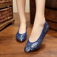 Dress Custom Brocade Satin Jacquard Pointed Bridal Shoes Toast Shoes Chinese Clothing With women's Singles Shoes FA0853