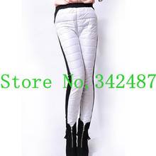 Winter yards down trousers women outer wear thick leggings winter thick cotton plus velvet warm pants female feet  7 color