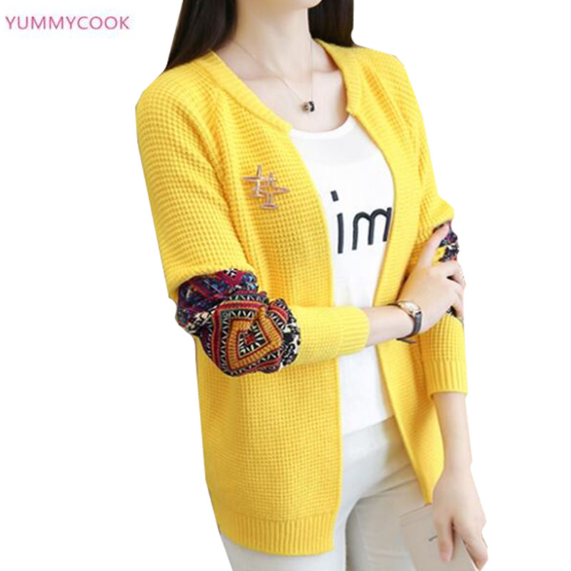 Short coat female 2019 spring autumn new women's Knitwear cardigan sweater female national wind Knitwear sweater Casual tops 77