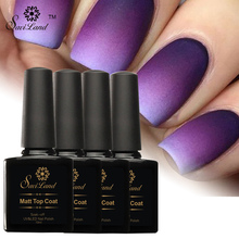 Saviland 1pcs 10ml Matt Top Uv Gel Nail Polish Fingernails Gel Varnishes Top it Off Gel Lacque Matte Effect Top Coat