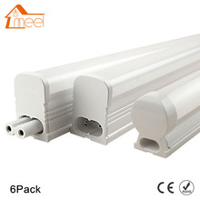 6Packs 220V 240V LED Tube T5 T8 Light 6W 10W LED Fluorescent Tube Wall Lamp Bulb 30/60cm Led Integrated Tube Cold White(China)