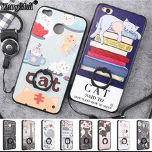 Ring Holder Lanyard Relief Case Fundas for Xiaomi Redmi 4X Note 4 2 4X 3 Pro Phone Cases Coque Xiaomi Mi5 Mi5s 5C Mi6 Plus Cover(China)