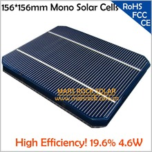 100pcs A Grade Solar Cells Mono 156x156mm with 2 Busbar, High Efficiency 19.5%,4.65W, 0.5A, Buy PV Cells Get Free PV Ribbon Wire(China)